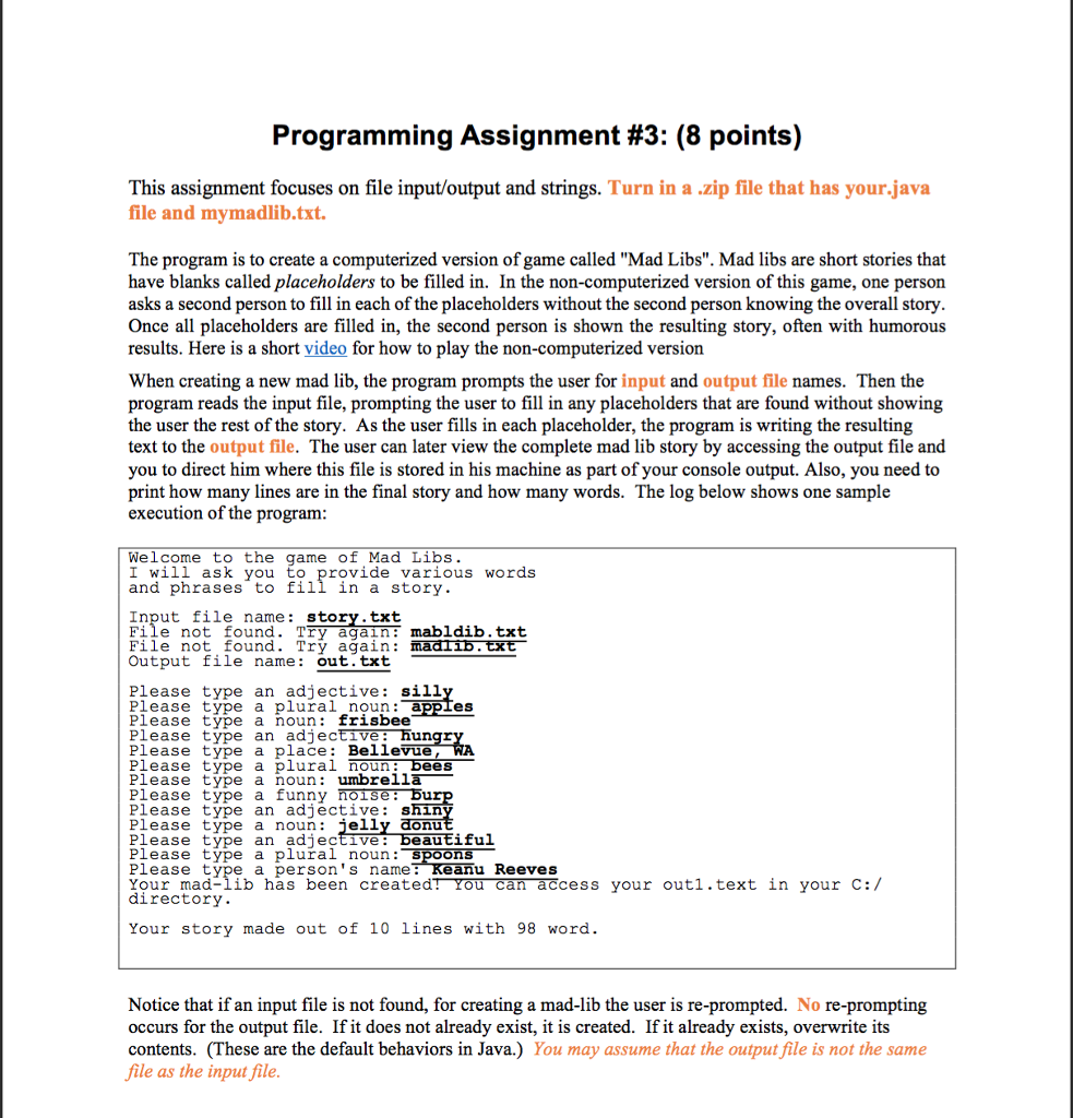 Programming Assignment #3: (8 Points) This Assignm