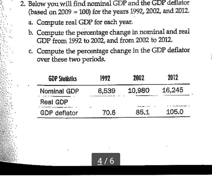 below you will find nominal gdp and the gdp deflator based on 2009