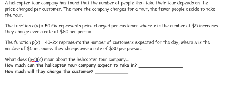 Solved: A Helicopter Tour Company Has Found That The Numbe