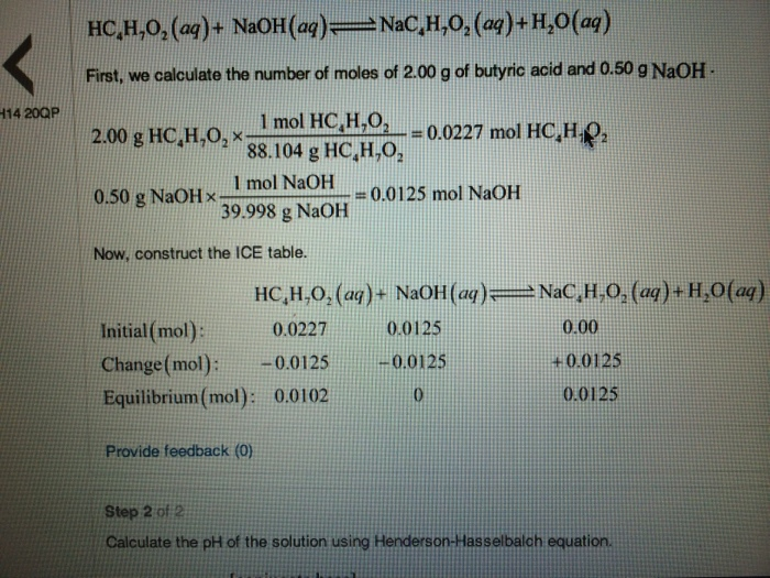 question how do you calculate the change portion of the tabl