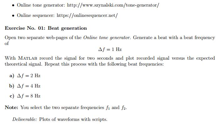 Solved: Online Tone Generator: Http://www szynalski com/to