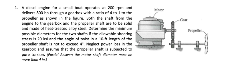 Solved: A Diesel Engine For A Small Boat Operates At 200 R