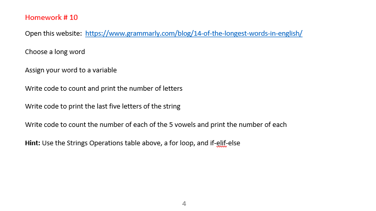 Solved: (MUST BE IN PYTHON 2 7) Choose A Long Word: Pneumo