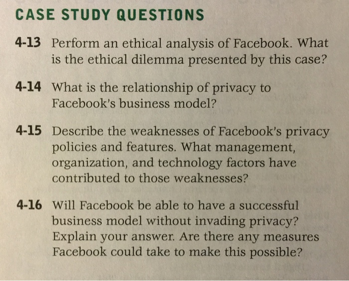 case analysis of facebook