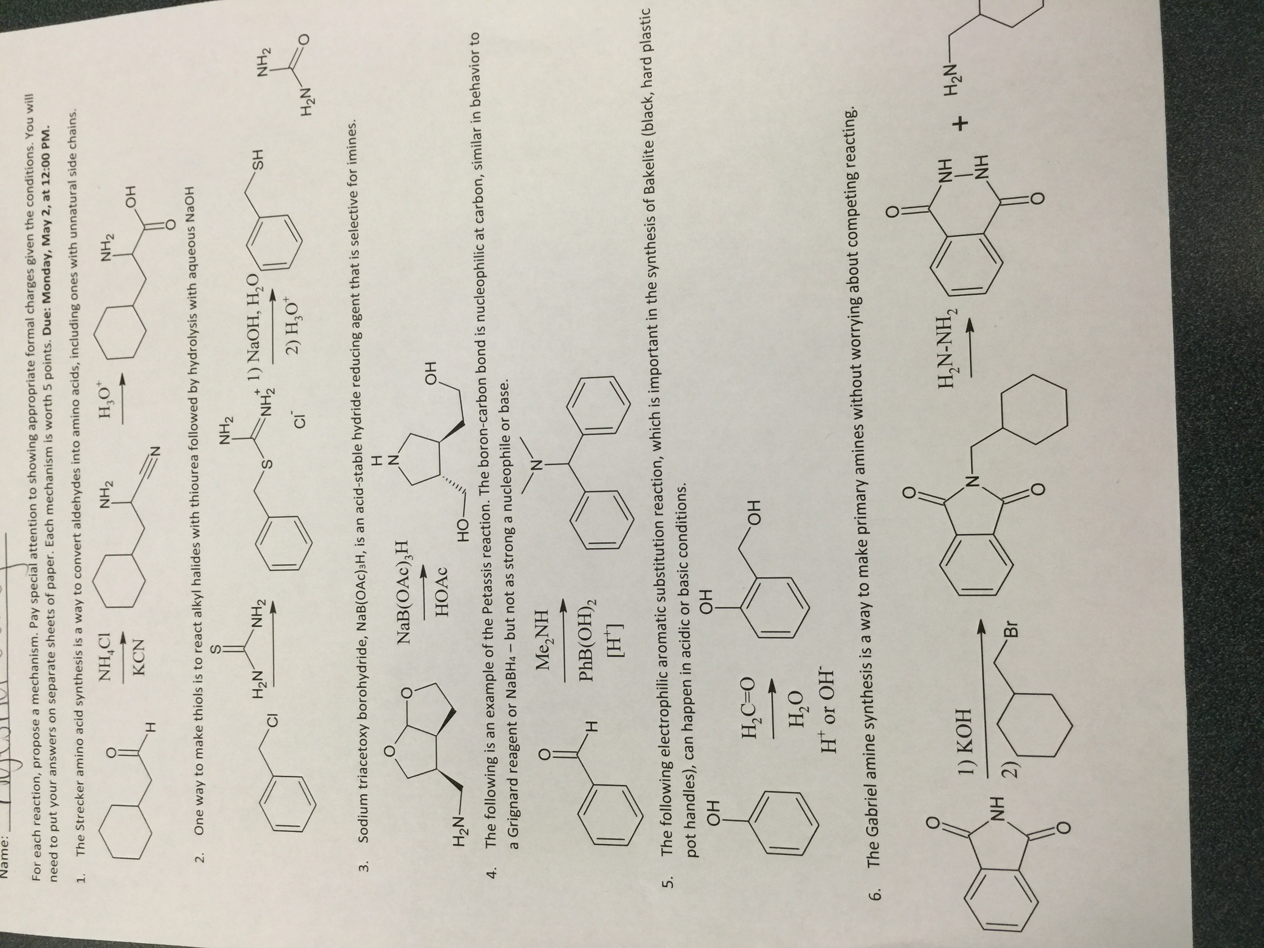 Chemistry archive april 25 2016 chegg the strecker amino acid synthesis is a way to conv nvjuhfo Images