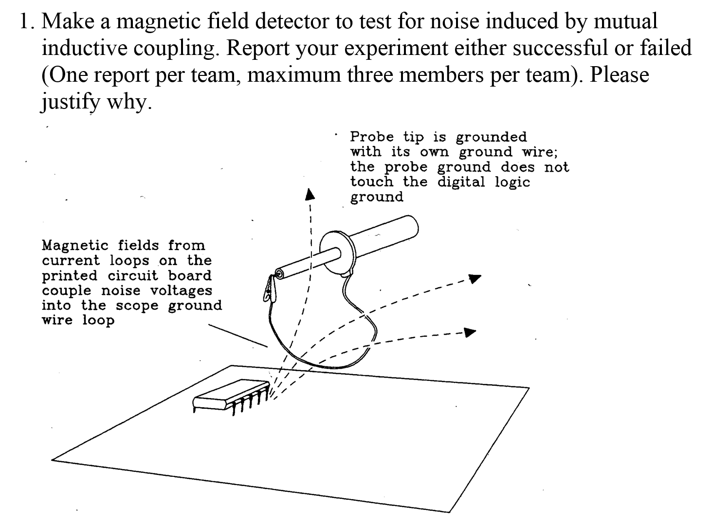 Solved Make A Magnetic Field Detector To Test For Noise I Your Own Printed Circuit Board