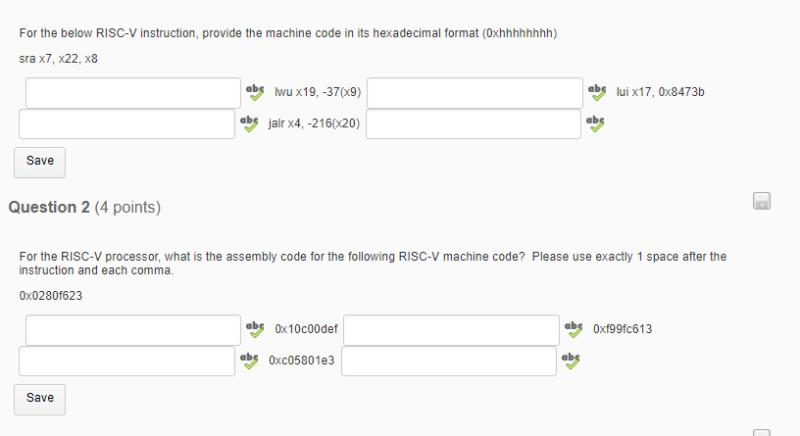 For The Below RISC-V Instruction, Provide The Mach