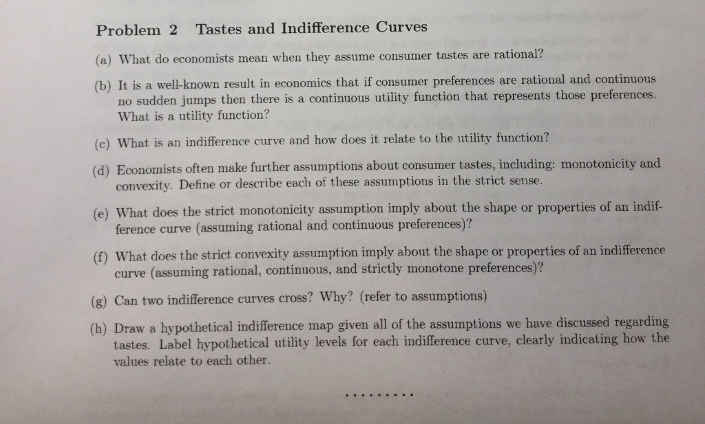 tastes and preferences economics definition