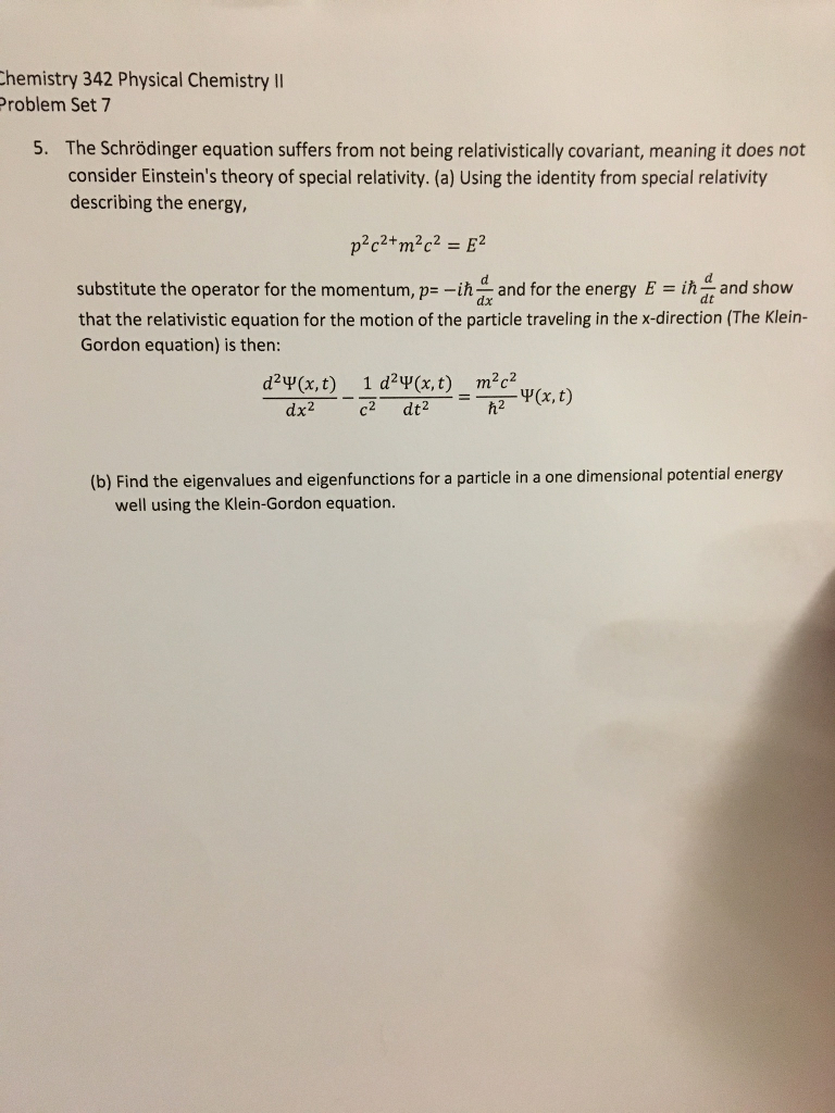 The Schrodinger Equation Suffers From Not Being Re
