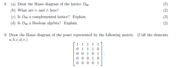 Solved 8 a draw the hasse diagram of the lattice d b a draw the hasse diagram of the lattice d b ccuart Image collections