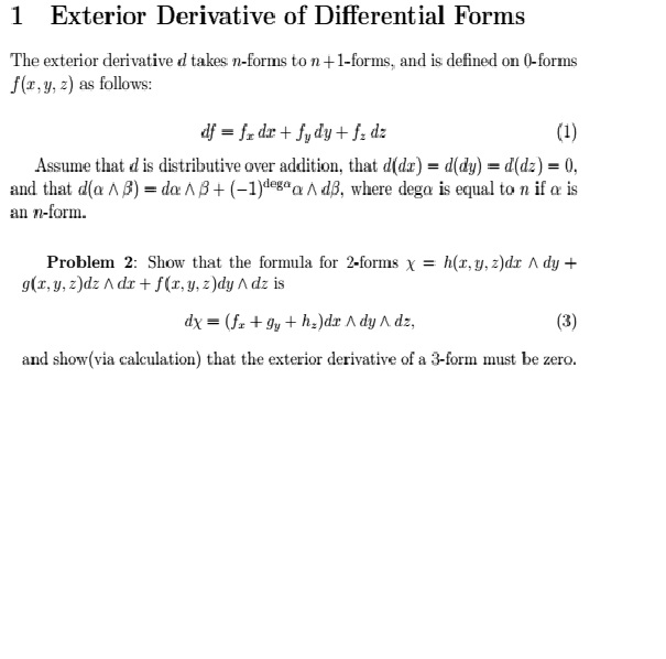 Superb Exterior Derivative Of Differential Forms The Ext