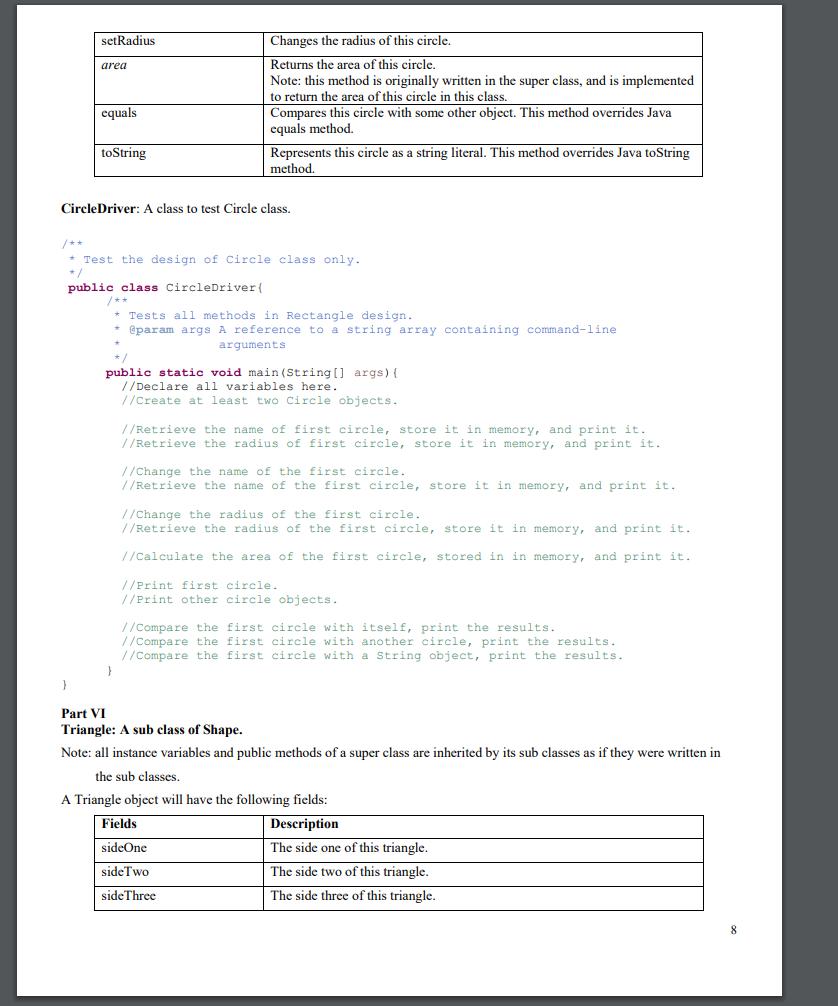 Write A Program To Model A Generic Shape And A Lis