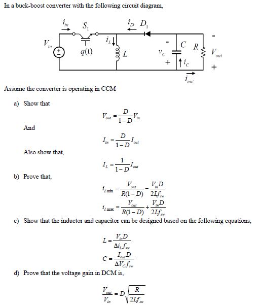 Marvelous Solved In A Buck Boost Converter With The Following Circu Wiring Cloud Intapioscosaoduqqnet