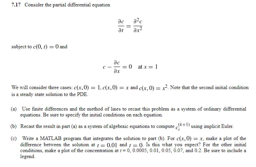 7 17 Consider The Partial Differential Equation Ac