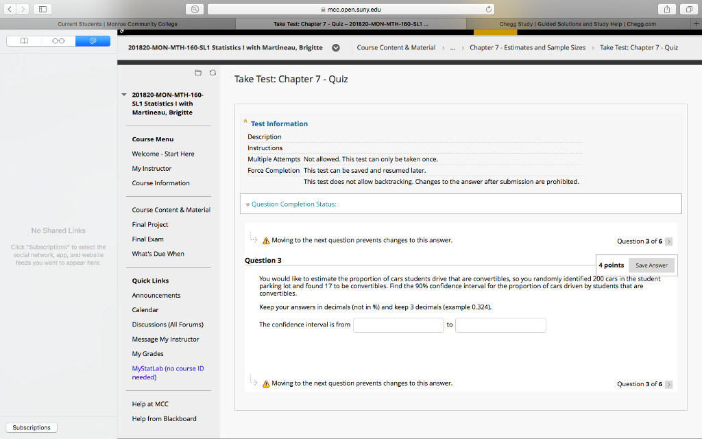 Solved: Mcc open suny edu Take Test: Chapter 7 - Quiz- 201