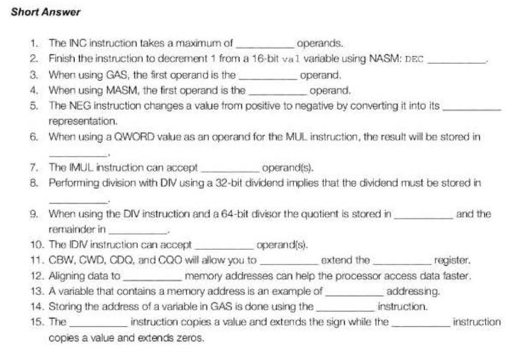 Solved: The ING Instruction Takes A Maximum Of _____ Opera