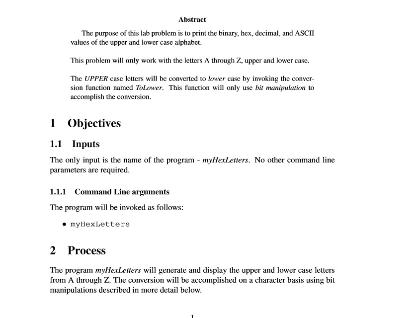 Abstract The Purpose This Lab Problem Is To Pri