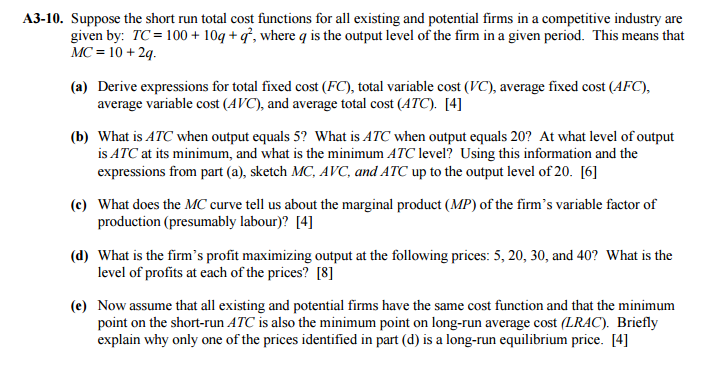 fixed costs exist only in the short run