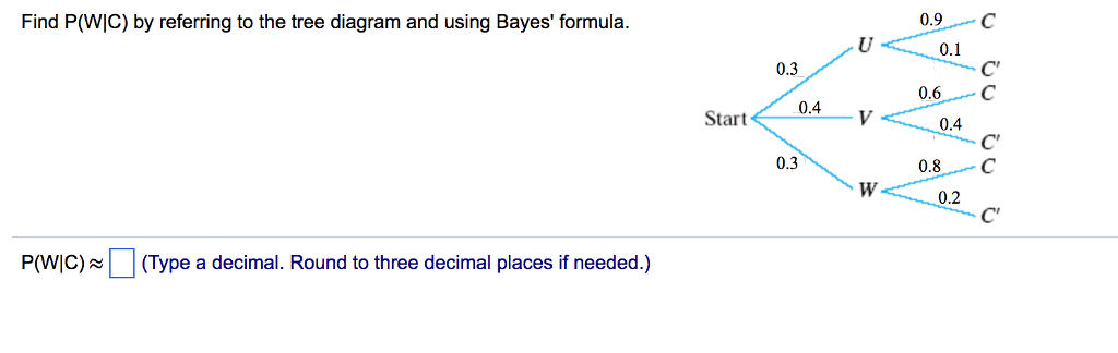 Solved Find Pwic By Referring To The Tree Diagram And U