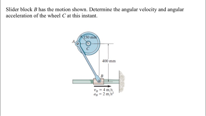 Solved: Slider Block B Has The Motion Shown  Determine The