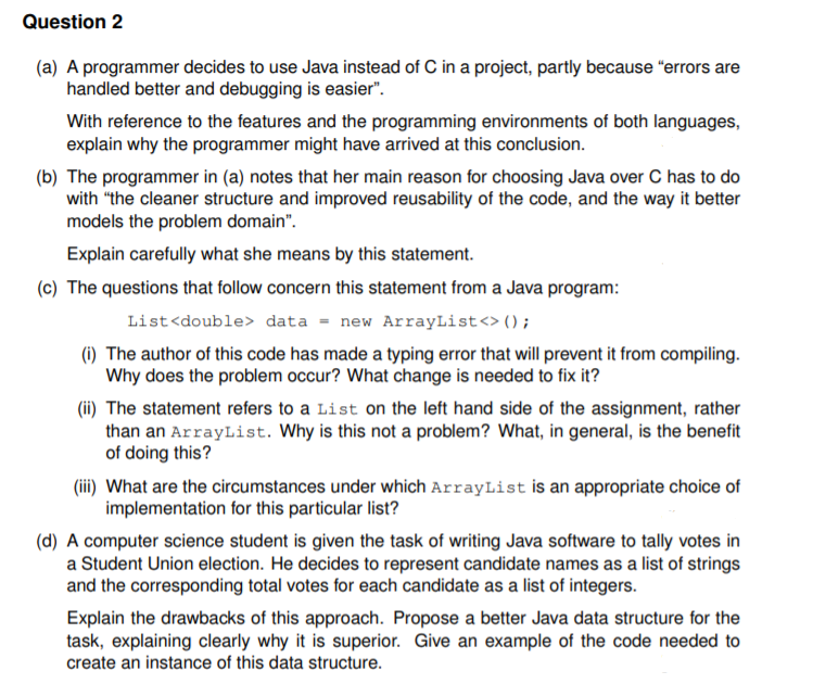 Java Programming Question (Object Oriented Program