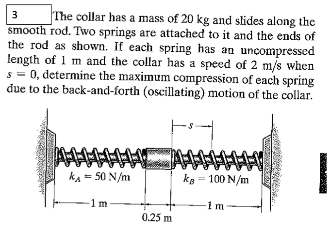 The Collar Has A Mass Of 20kg