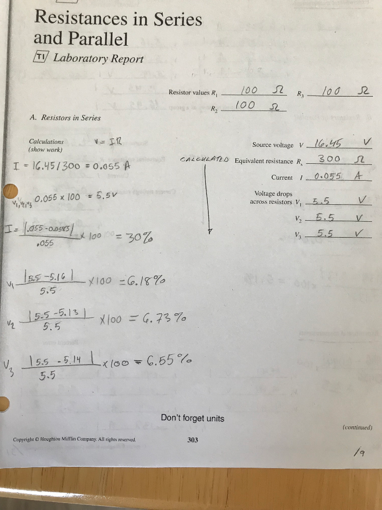 Solved Im Unsure How To Solve For The Equivalent Resista Series Parallel Circuit Formula And Resistance In Resisters A Combined I Also Need Help Calculating Last Couple Of