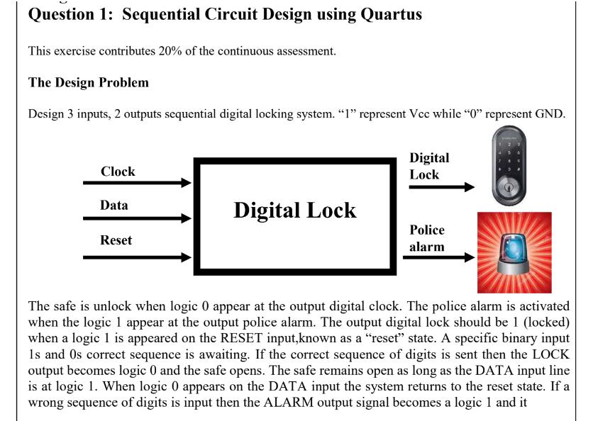 question 1 sequential circuit design using quartu chegg comquestion 1 sequential circuit design using quartus this exercise contributes 20% of the continuous