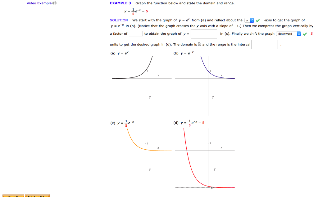 Solved Graph The Function Below And State The Domain And