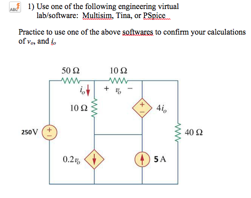 Solved: Use One Of The Following Engineering Virtual Lab/s