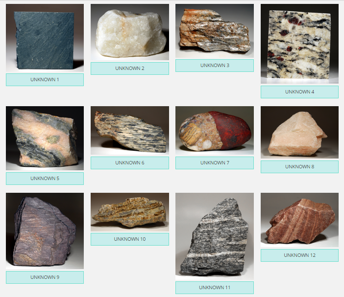Solved: Match The Unknown Metamorphic Rocks With The Corre