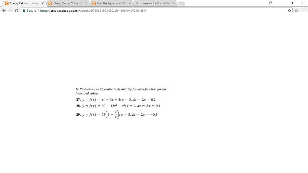 Solved: E Chegg: Calculus For Bus Chegg Study I Guided S/X