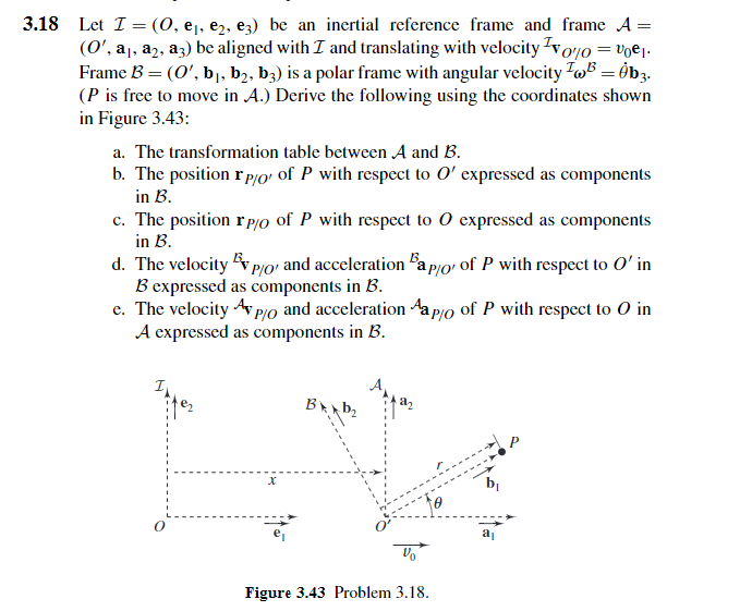 Solved: 3.18 Let |= (O, El, E2 , E3) Be An Inertial Refere ...