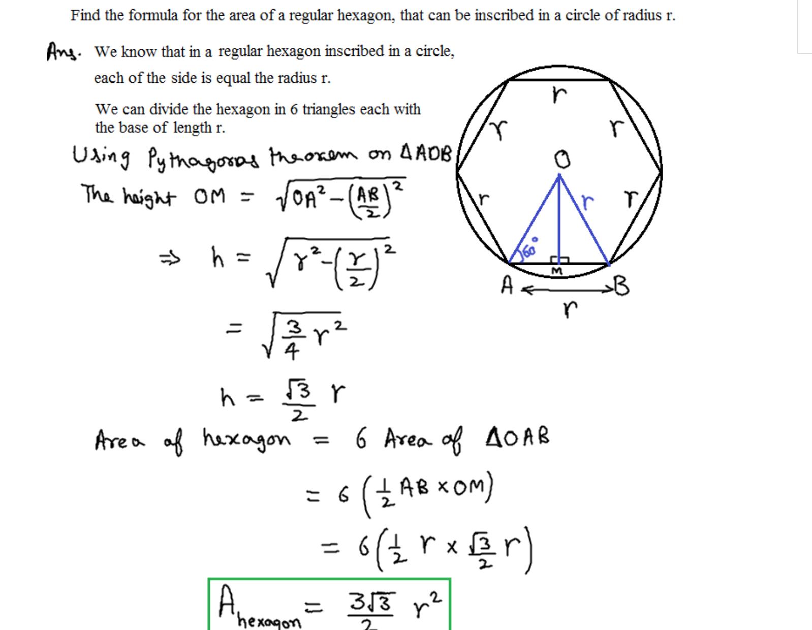 Constructing regular hexagon inscribed in circle