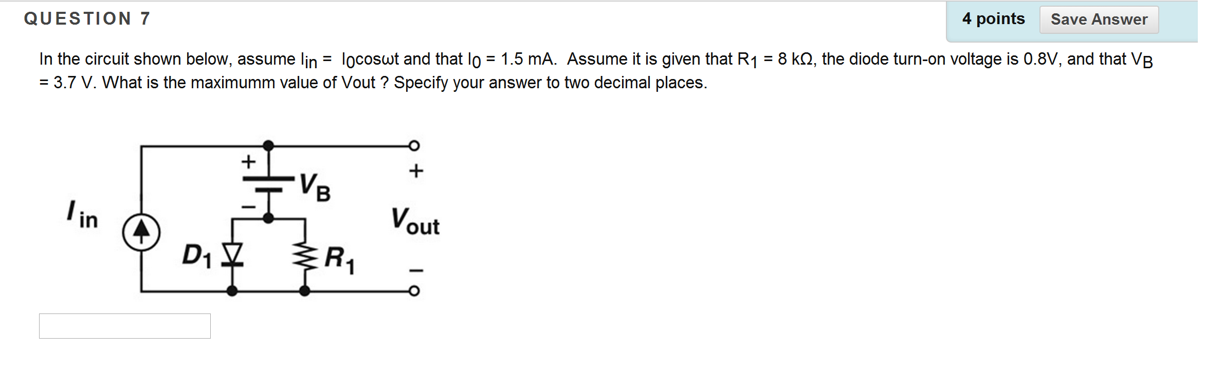 Solved This Week We Look At Designing A Full Wave Bridge Fullwave Rectifier Circuit Question 7 4 Pointssave Answer In The Shown Below Assume Lin Locoswt And