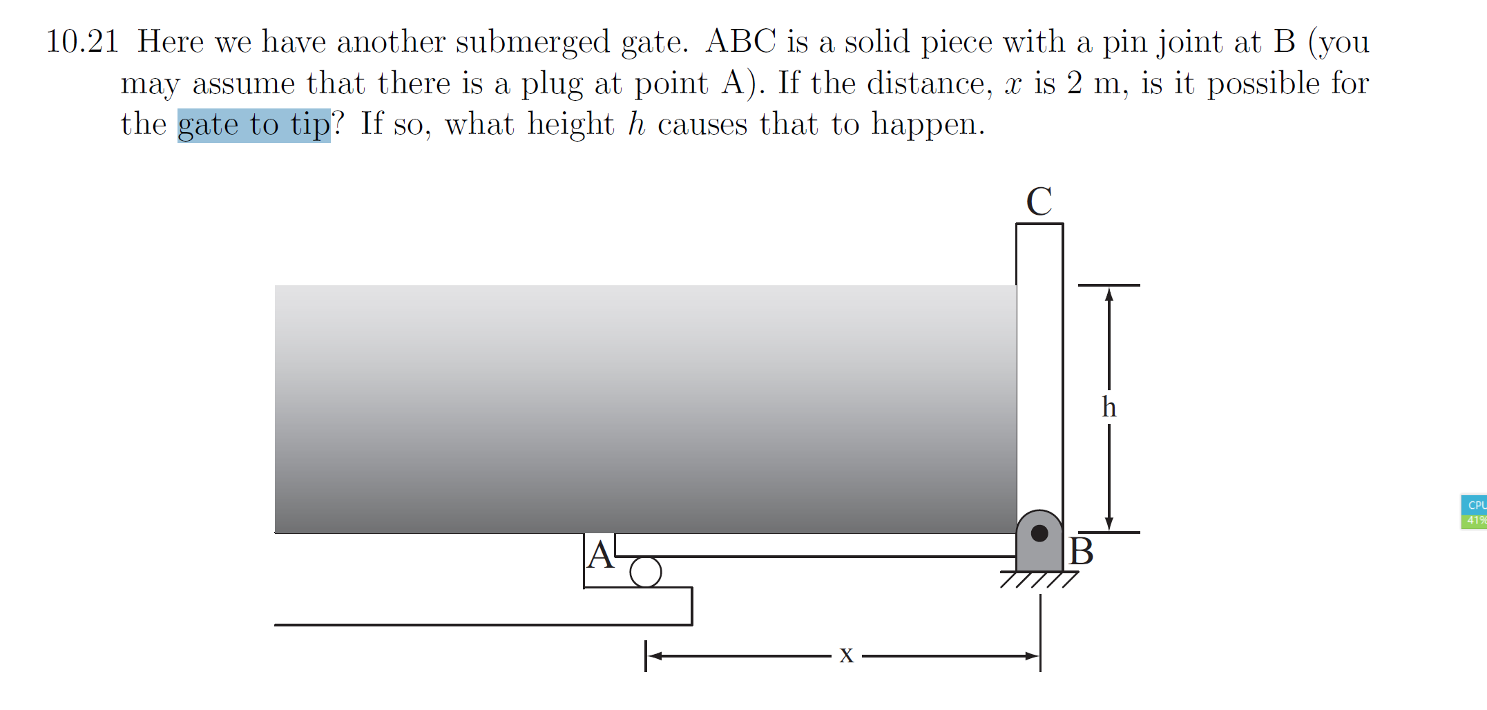 Heres What We Know About Causes Of >> Solved Here We Have Another Submerged Gate Abc Is A Soli