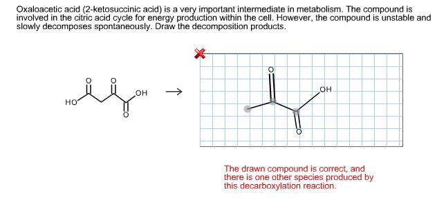 Oxaloacetic Acid Decarboxylation Solved: Oxaloac...