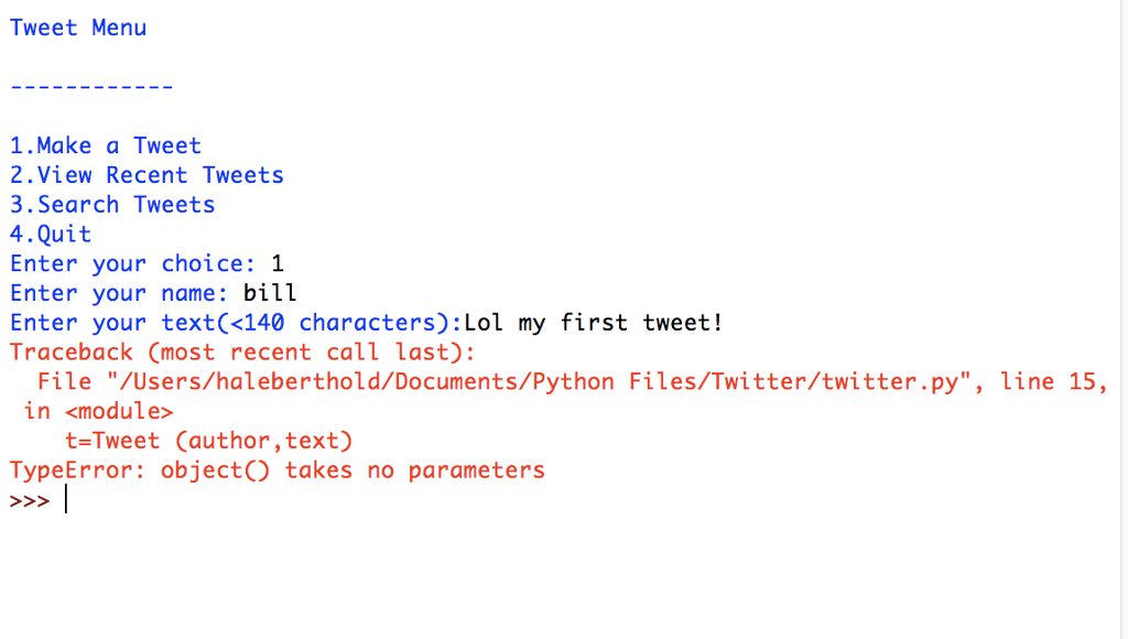 Solved: Python 3 TypeError: Object() Takes No Parameters H