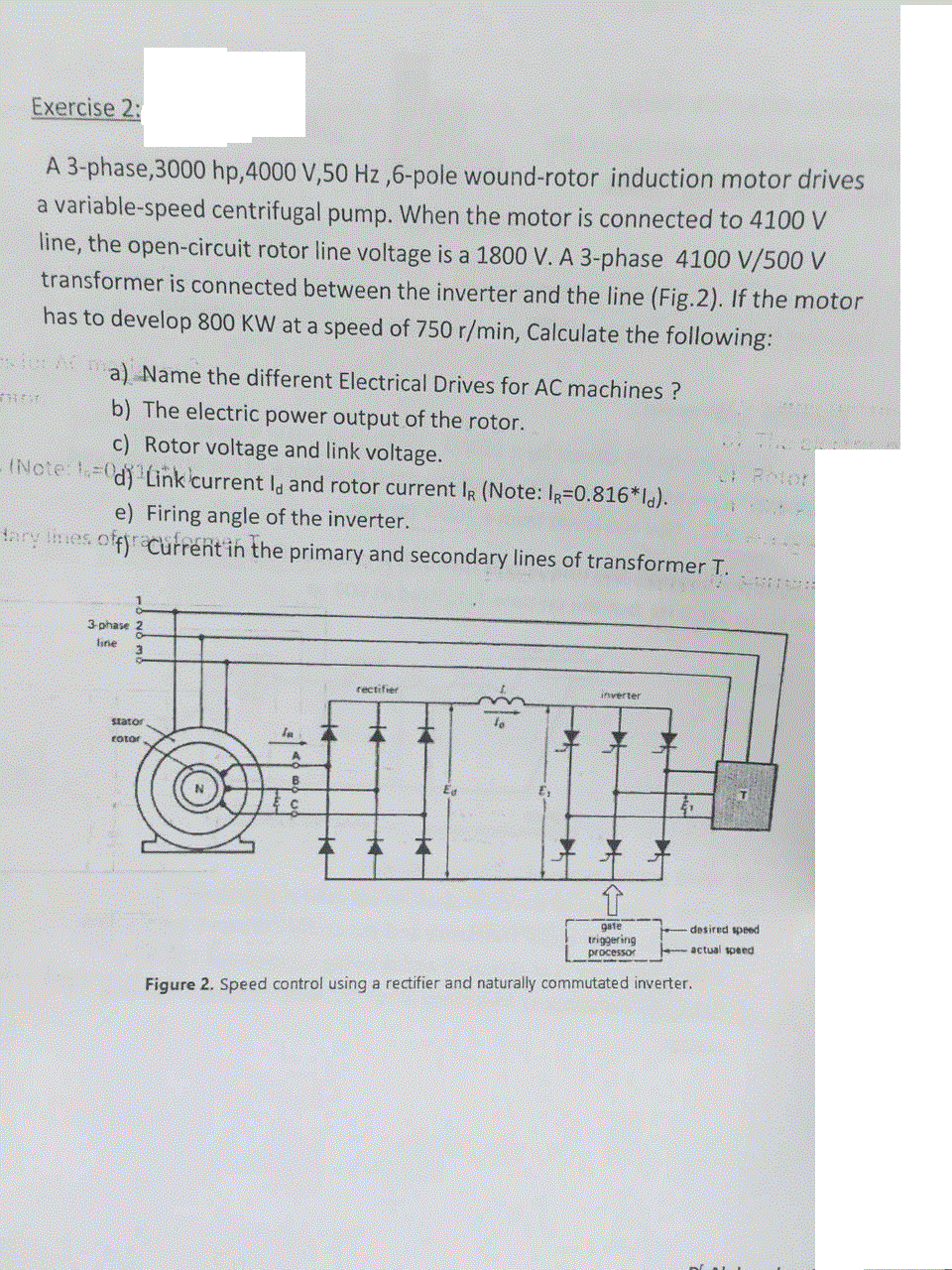 Wound Rotor Motor Wiring Diagram Detailed Schematics Ac Generator Voltage Get Free Image About Picture Trusted Induction Solved A