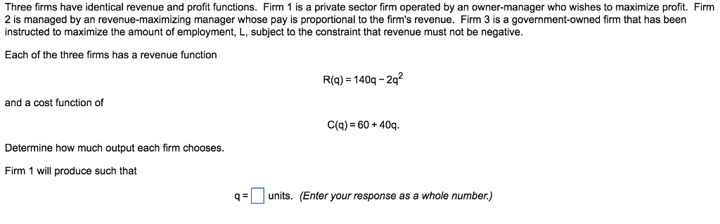 what are the three basic functions of a firm