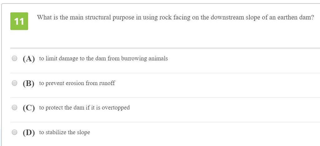 solved what is the main structural purpose in using rock