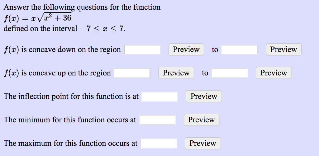 Solved Answer The Following Questions For The Function De