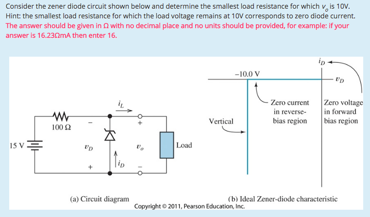 solved consider the zener diode circuit shown below and d rh chegg com