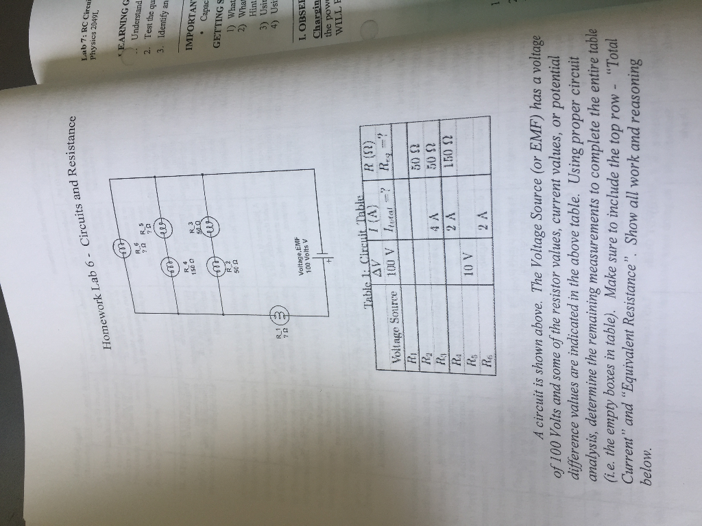 Solved A Circuit Is Shown Above The Voltage Source Or E Find Equivalent Resistance Re Of S Cheggcom