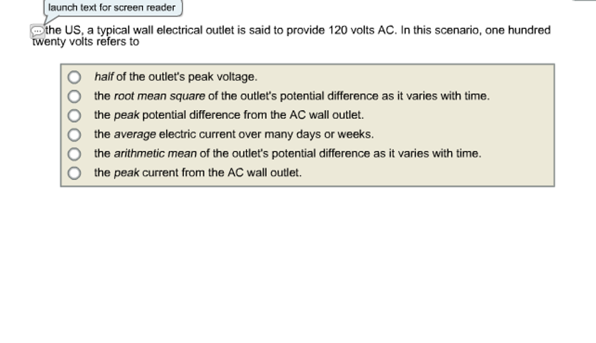 Solved: The US, A Typical Wall Electrical Outlet Is Said T ...