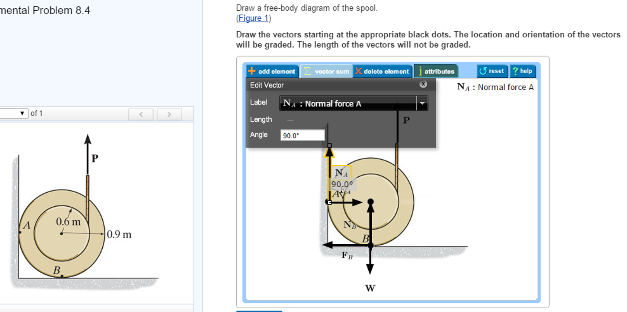 Solved draw a free body diagram of the spool figure 1 draw a free body diagram of the spool figure 1 ccuart Choice Image