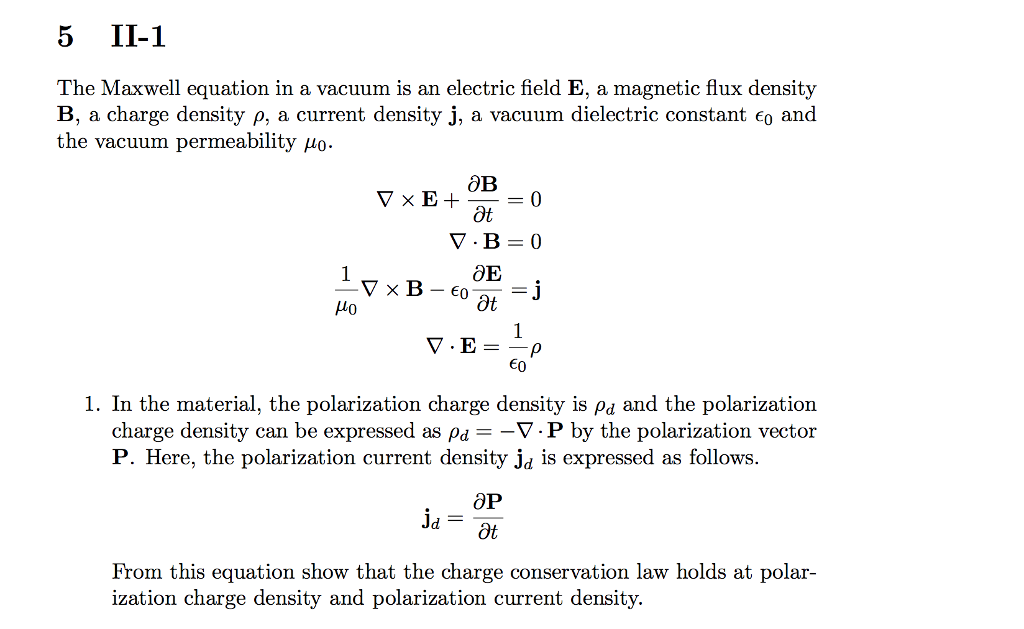 Solved: The Maxwell Equation In A Vacuum Is An Electric Fi