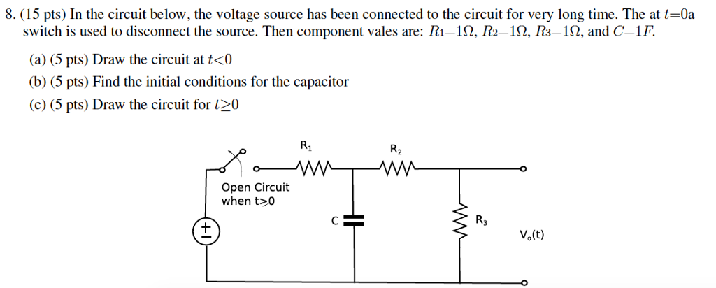 solved in the circuit below the voltage source has been rh chegg com