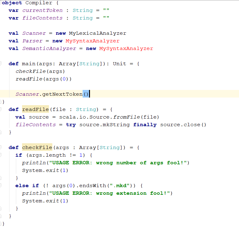 Use The Following Scala Setup To Create A Compiler    | Chegg com
