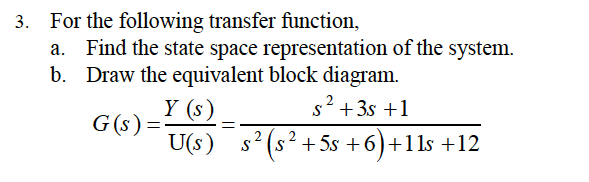 Solved: For The Following Transfer Function, A  Find The S